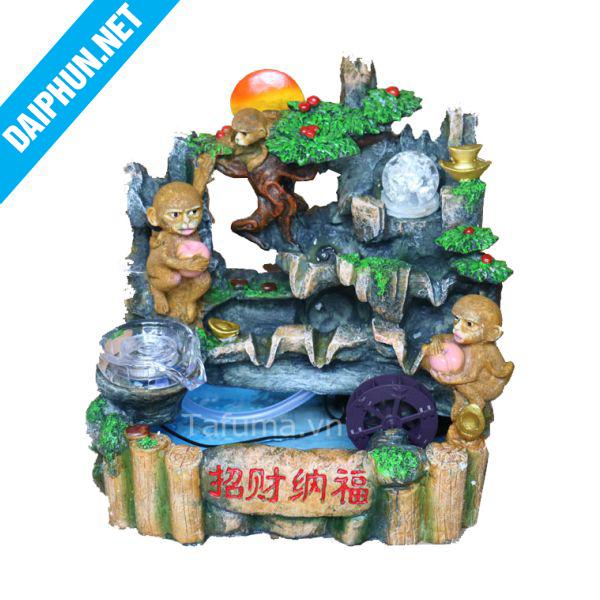 Đài phun nước mini động khỉ
