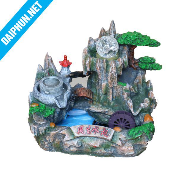 Đài phun nước mini cầu tháp trái