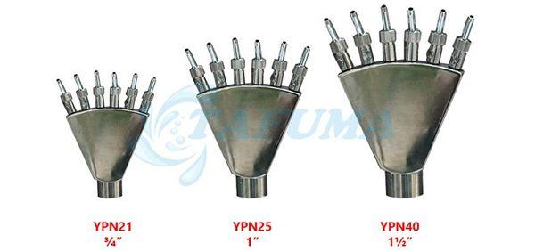 Đầu kết nối vòi phun nước xẻ quạt đa tia YPN