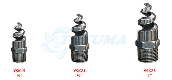 Kích thước đầu kết nối vòi phun nước xoắn ốc - Tafuma Việt Nam