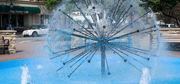 Hiệu ứng phun đầu phun nước hình cầu thủy tinh