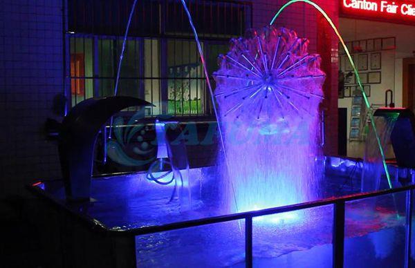 Ứng dụng vòi phun nước cầu thủy tinh