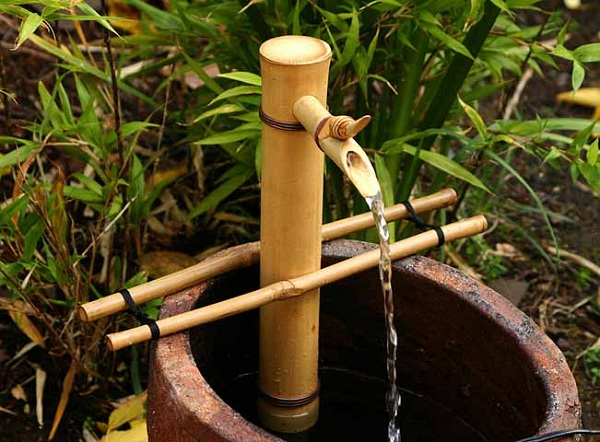 Cách làm đài phun nước bằng tre
