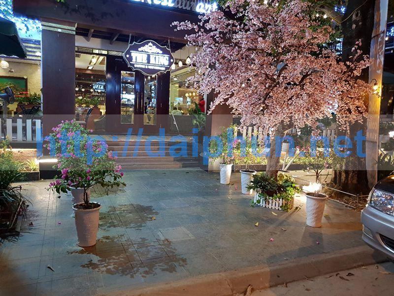 Tafuma thi công lắp đặt đài phun nước quán cà phê anh Đích, Thái Nguyên