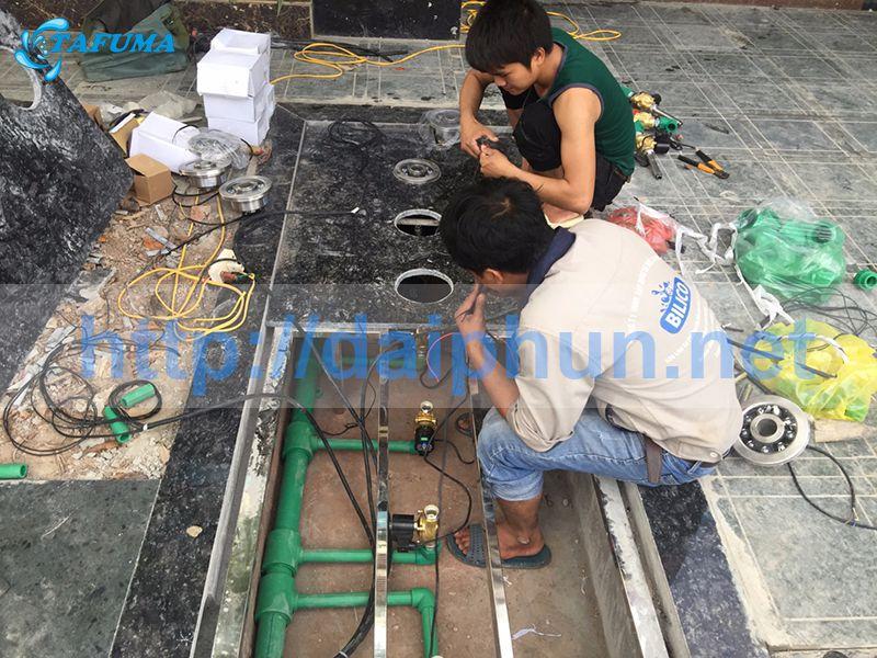 Công trình đài phun nước tại quán cafe THE KING - Thái Nguyên