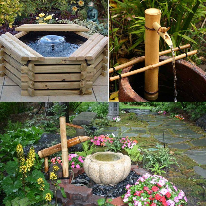 Đài phun nước phong thủy bằng gỗ