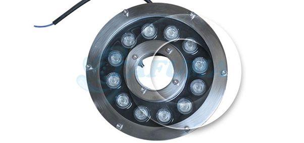 Bề mặt kính đèn led chịu nước đài phun TFH