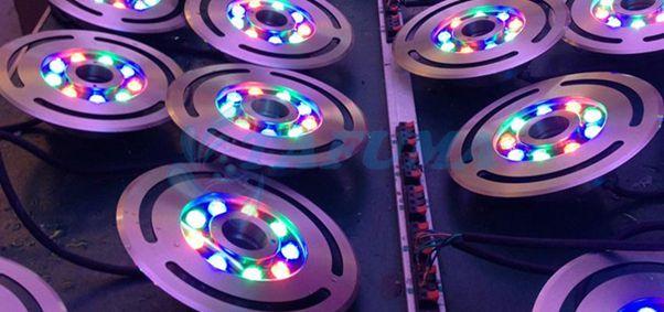 Các loại màu của đèn led âm chịu nước TFK