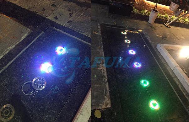 Ứng dụng đèn led chịu nước đài phun TFH