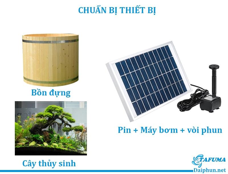 Dụng cụ cần chuẩn bị để lắp đặt đài phun nước năng lượng mặt trời - Tafuma Việt Nam