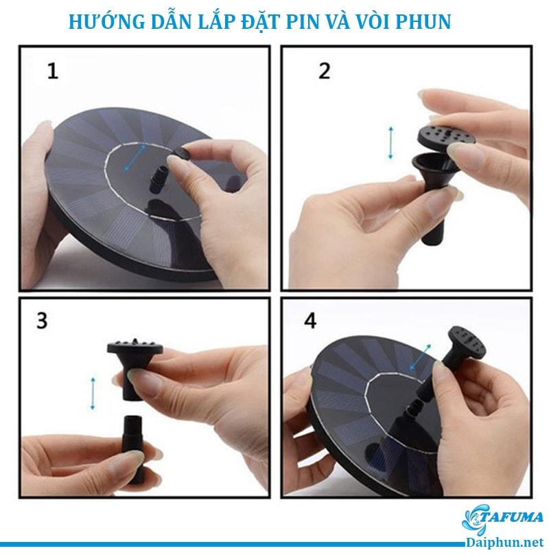 Hướng dẫn lắp đặt vòi và pin cho đài phun năng lượng mặt trời - Tafuma Việt Nam