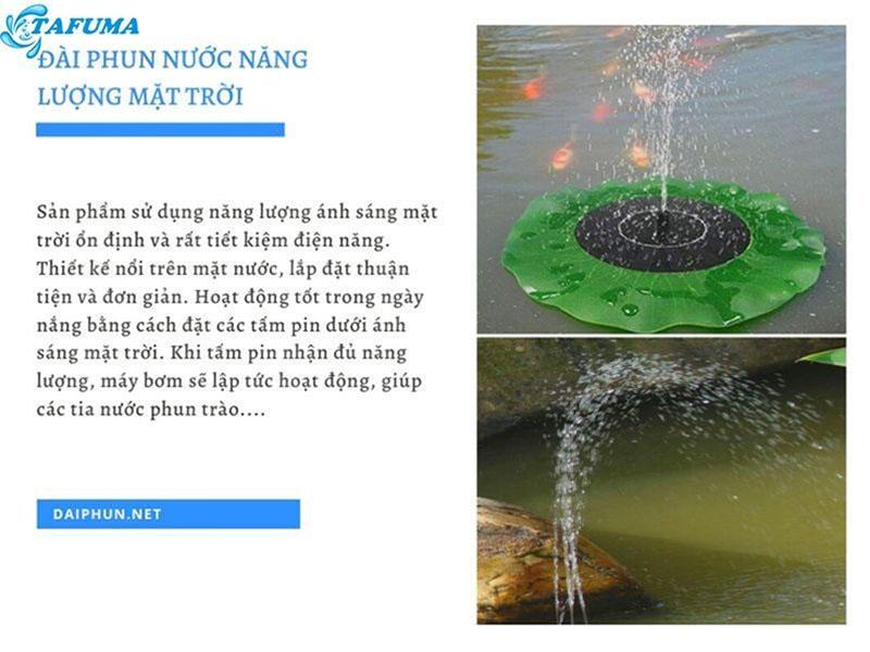 Tính năng nổi bật của đài phun nước năng lượng mặt trời - Tafuma Việt Nam